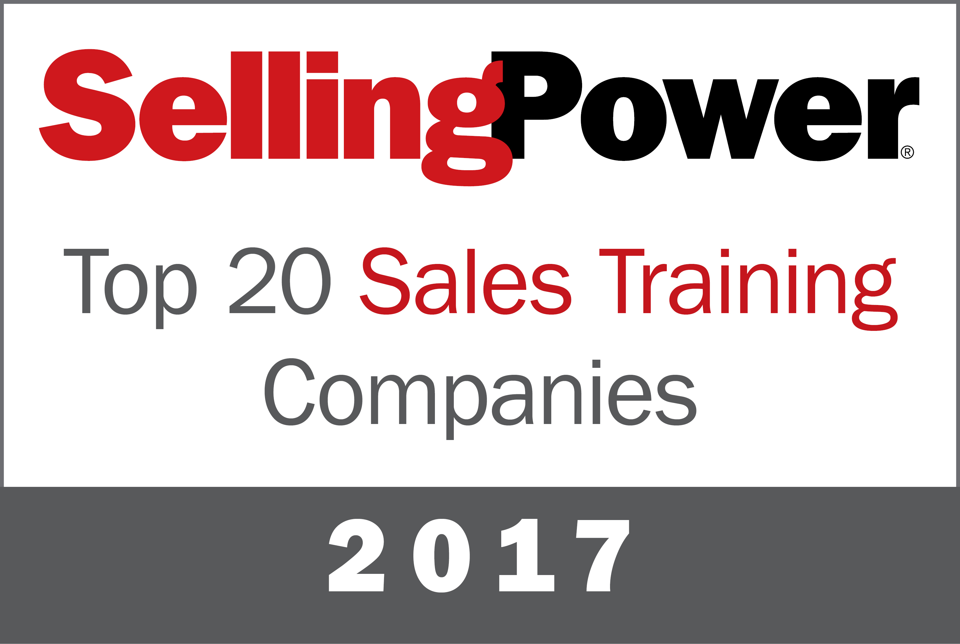 Top 20 sales training companies 2017 selling power selling power is pleased to announce our 2017 listing of the top 20 sales training companies each company on the list submitted a comprehensive application 1betcityfo Images